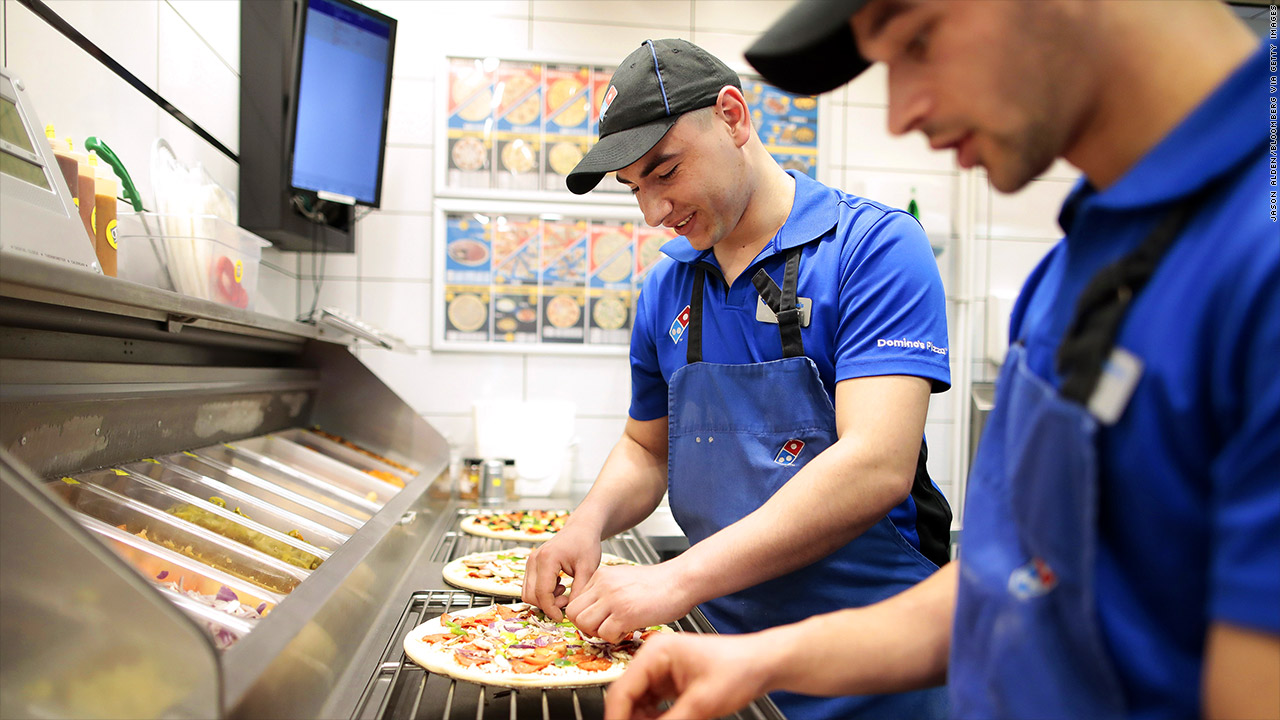 dominos higher wages