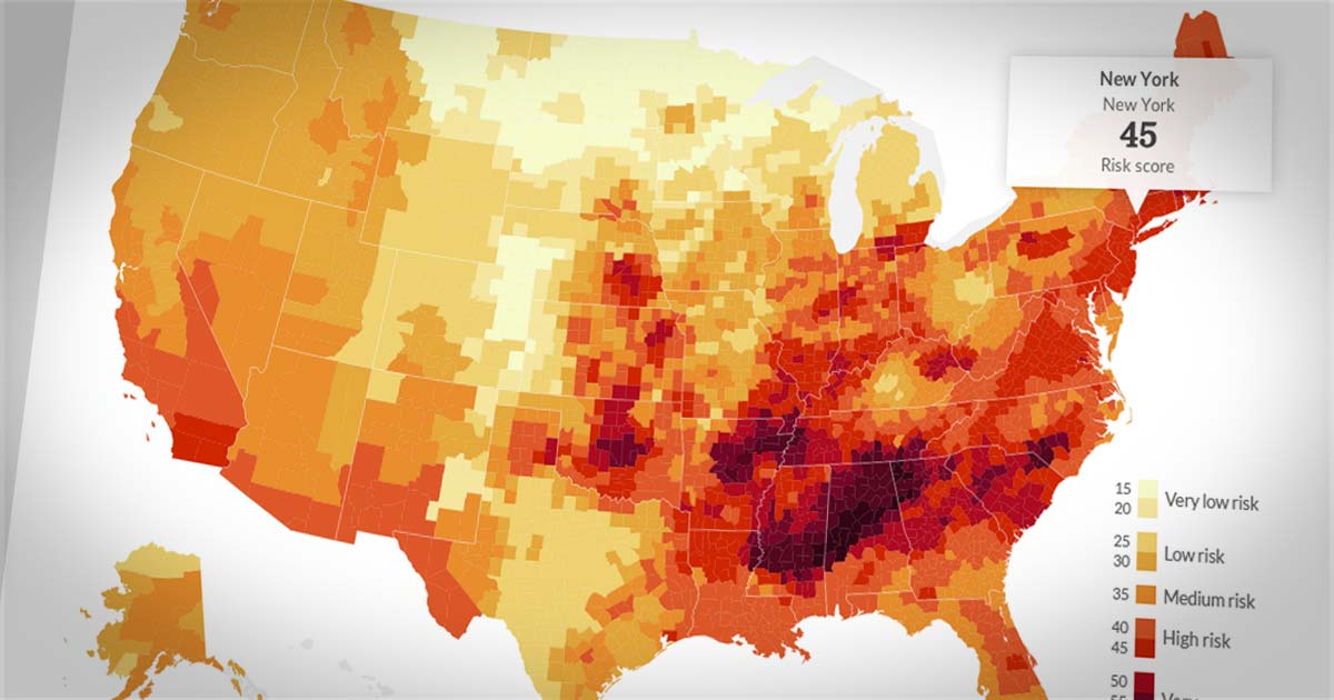 Natural Disasters The Riskiest Spots In The Us Cnnmoney - Us-disaster-map