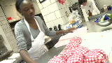 Hungry mothers cook for hundreds