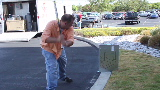 Server smashing and mini-golf at work