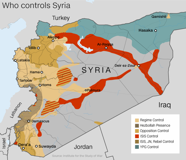 Trumps Plan For Syria Safe Zones Could Put Civilians At Even More - Where is syria