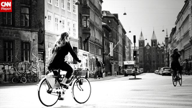 Copenhagen, Denmark, makes it easy for people to get around by  bike, says Jessica Eisenbraun.