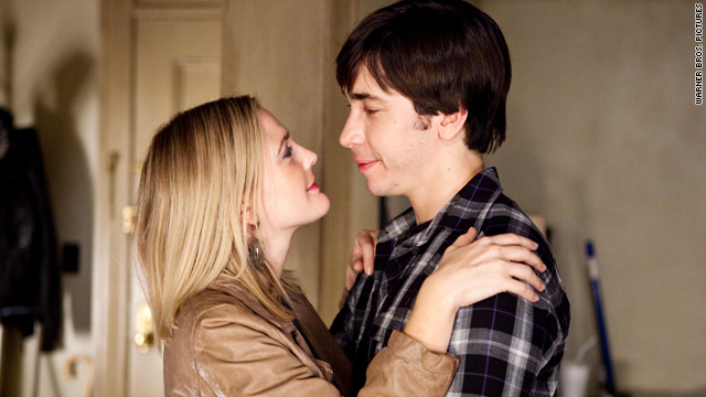 Drew Barrymore with Justin Long in 2010