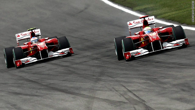 Image result for alonso massa silverstone 2010