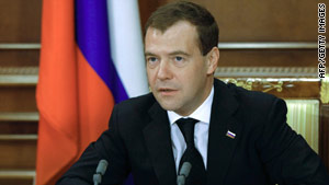 """Russian President Dmitry Medvedev has called the return of an  adopted boy by an American family a """"monstrous"""" act."""