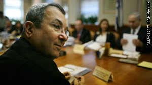 In a radio address, Ehud Barak said Israel had been more active in  seeking peace than the Palestinians.
