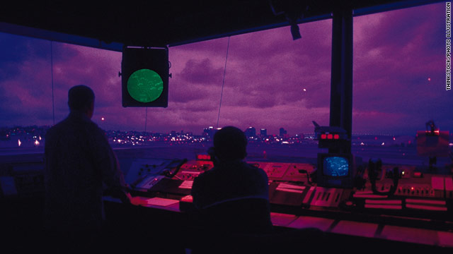 Air traffic controllers give pilots takeoff instructions. They also manage separation between landing and departing planes.