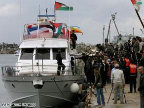 السفينة هي الأولى التي يتمّ منعها بعد أن كانت ثلاث سفن أخرى قد وصلت لغزة