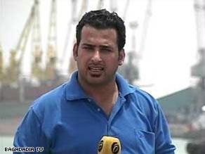 متظر الزيدي يؤدي واجبه الصحفي من ''بغداد المحتلة'' وفق تعبيره