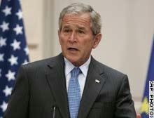 بوش يخفف من ''حدة التوتر'' مع إيران