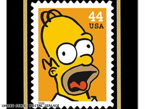 الأب.. هومر سيمبسون على الطابع البريدي الأمريكي