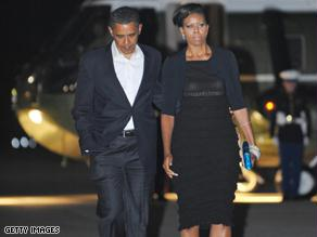 أوباما وزوجته في طريقهما إلى برودواي