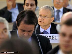 المندوب الإسرائيلي في جلسة التصويت على القرار