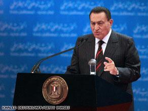 مبارك يتهم إسرائيل بتقويض فرص السلام