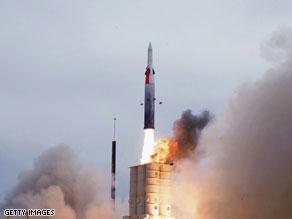 صاروخ إسرائيلي من طراز السهم ''آرو''
