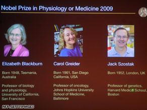 الأمريكيون حصلوا على الجائزة لأبحاثهم حول الكروموسومات