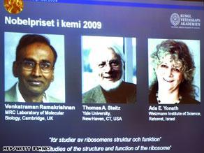 الفائزون بجائزة نوبل للكيمياء