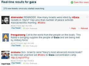 عدد من المشاركات عبر تويتر حول قافلة الحريةو