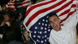 الشعب الأمريكي فرح ومرح ورقض عند الإعلان عن مقتل بن لادن