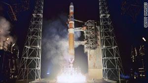 صاروخ دلتا على منصة الإطلاق