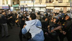 مصادمات بين الشرطة والمحتجين