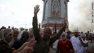 المحتجون في ولاية صحار العمانية