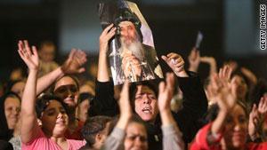 من احتجاجات للأقباط بعد انفجار بكنيسة بالاسكندرية مطلع 2011