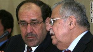 طالباني كان قد اجتمع بالمالكي وعدد من السياسيين