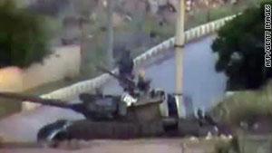 الدبابات السورية استخدمت في عدد من المدن التي شهدت احتجاجات مناوئة للنظام