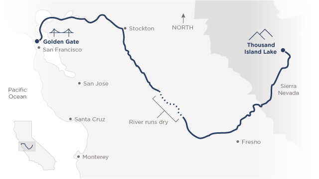 Map of San Joaquin River