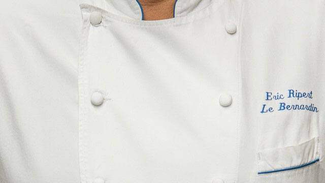 Eric Ripert's custom chef's jacket