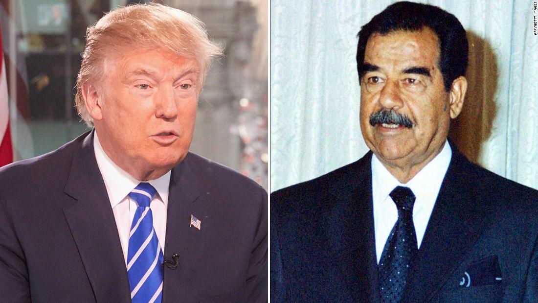 """ترامب يمدح الديكتاتور صدام حسين: كان """"فعالا"""" بقتل الإرهابيين"""