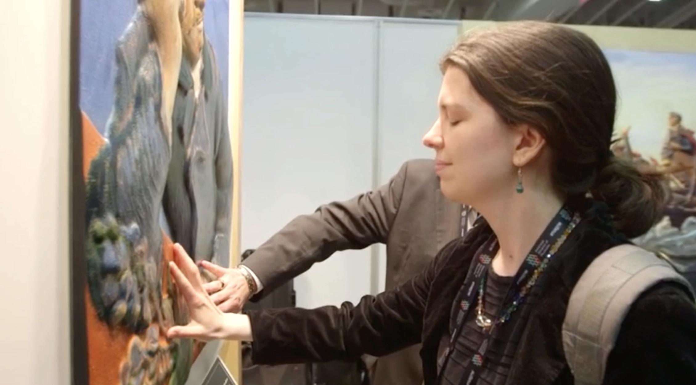 طباعة ثلاثية الأبعاد تجعل رؤية الفن حقيقة للمكفوفين