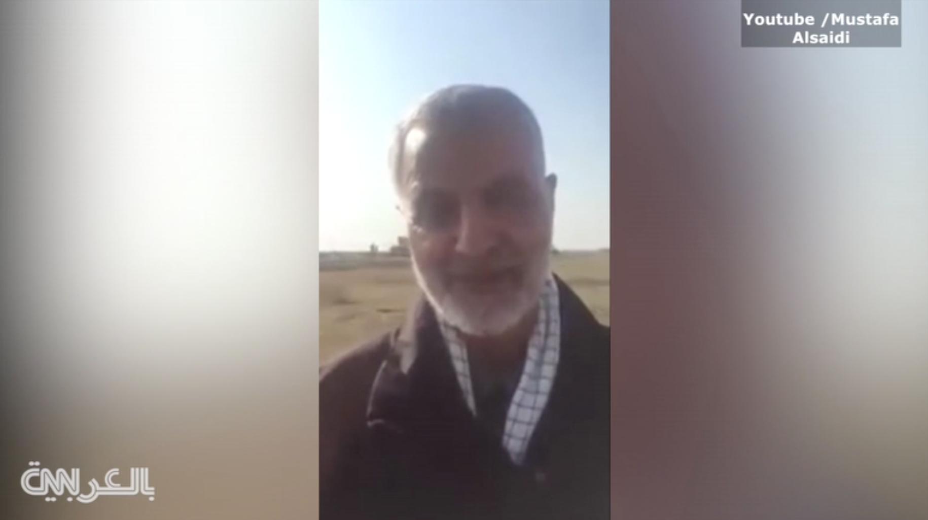 فيديو للجنرال الإيراني سليماني .. رسالة من العراق إلى عائلته