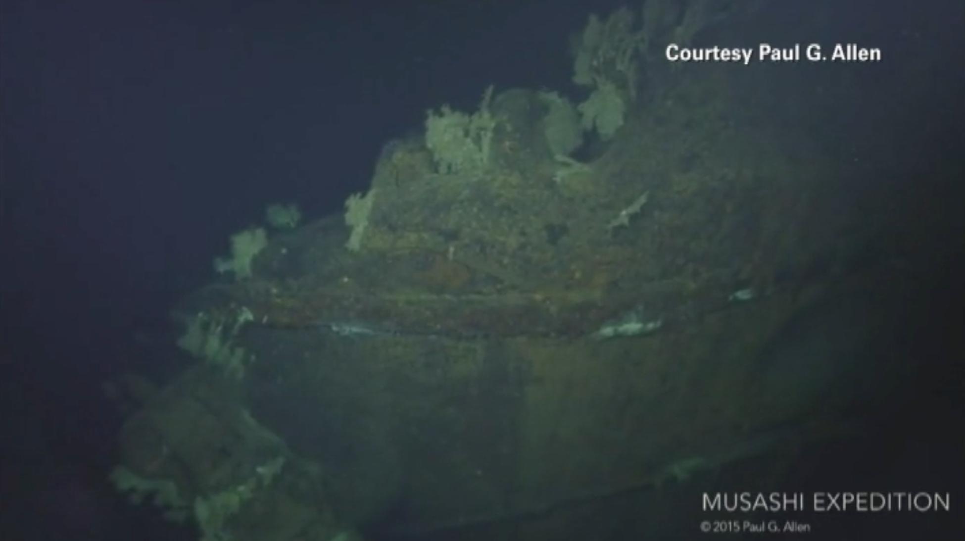 """شاهد حطام """"موساشي"""" تحت الماء منذ الحرب العالمية 2"""