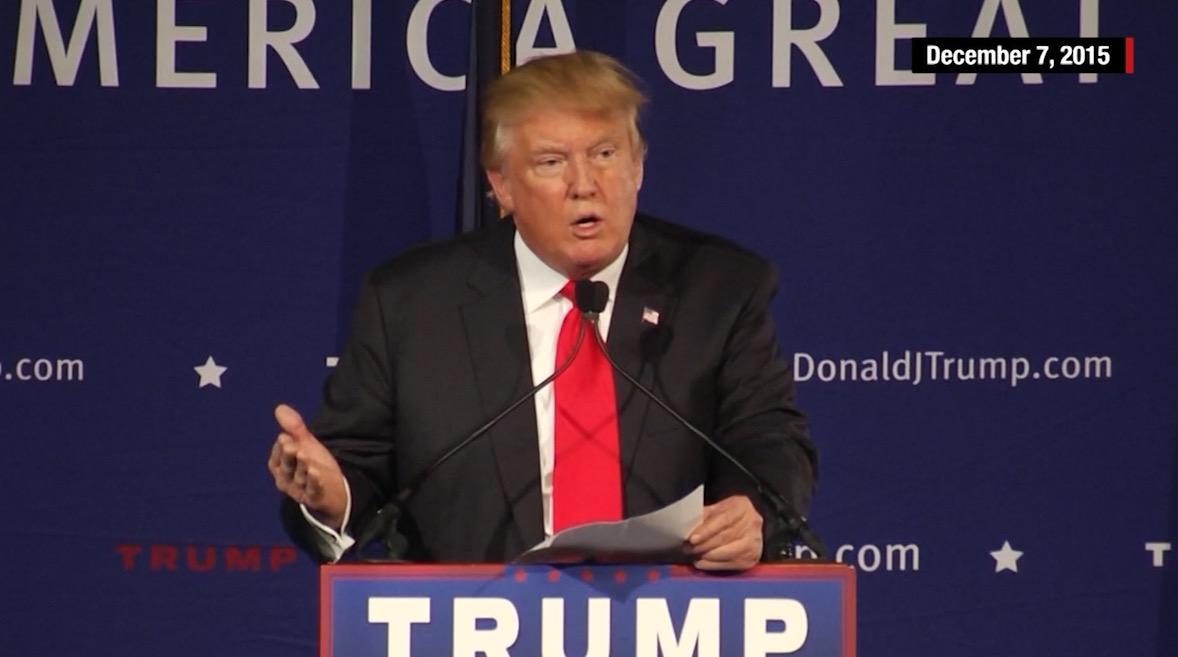 تصريحات دونالد ترامب المتخبطة حول المسلمين منذ بداية سباق الانتخابات الرئاسية الأمريكية