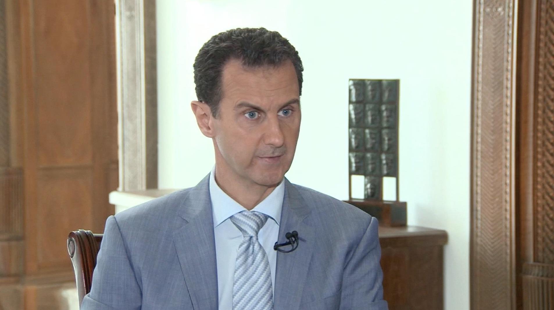 ما رد بشار الأسد على سؤال حول الطفل عمران؟
