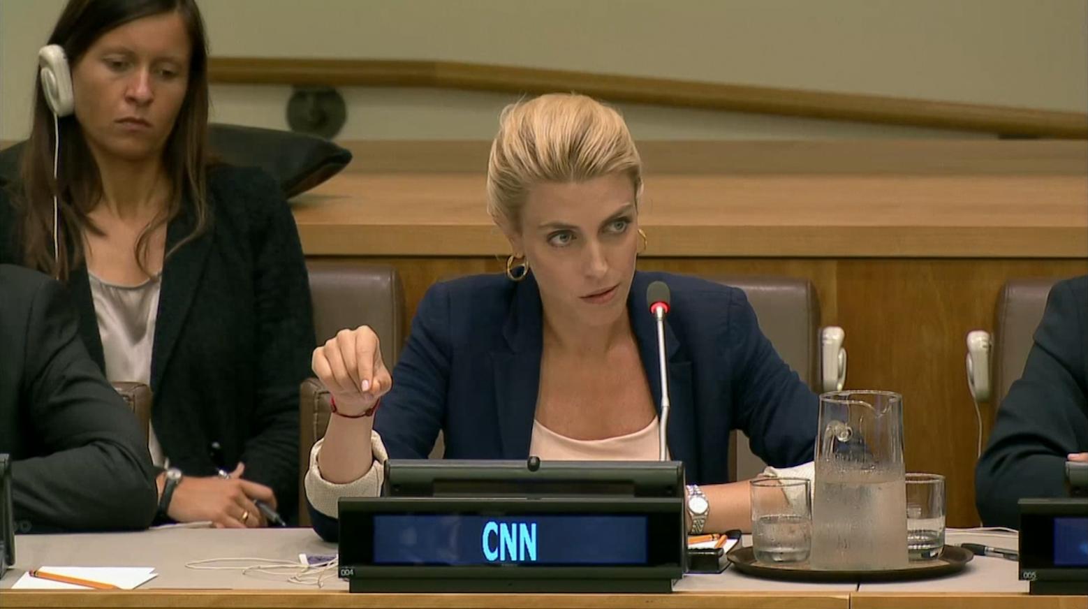مراسلة CNN كلاريسا وارد تتحدث عن حلب أمام الأمم المتحدة