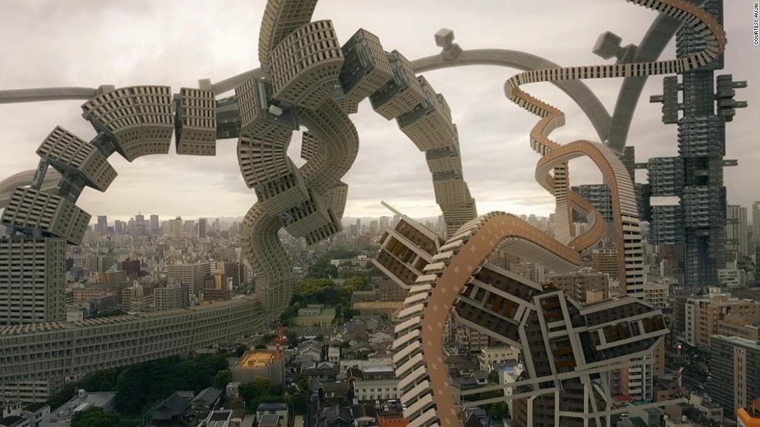 """تتحرك وتتراقص وتنمو.. مباني """"عجيبة"""" شبيهة بالكائنات الحية"""