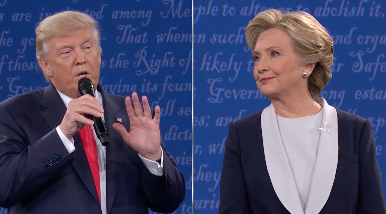 لحظات طريفة لترامب وكلينتون بانتخابات أمريكا