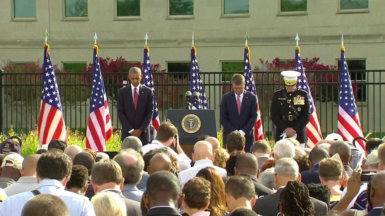 أوباما يحيي ذكرى أحداث 11 سبتمبر أمام البنتاغون