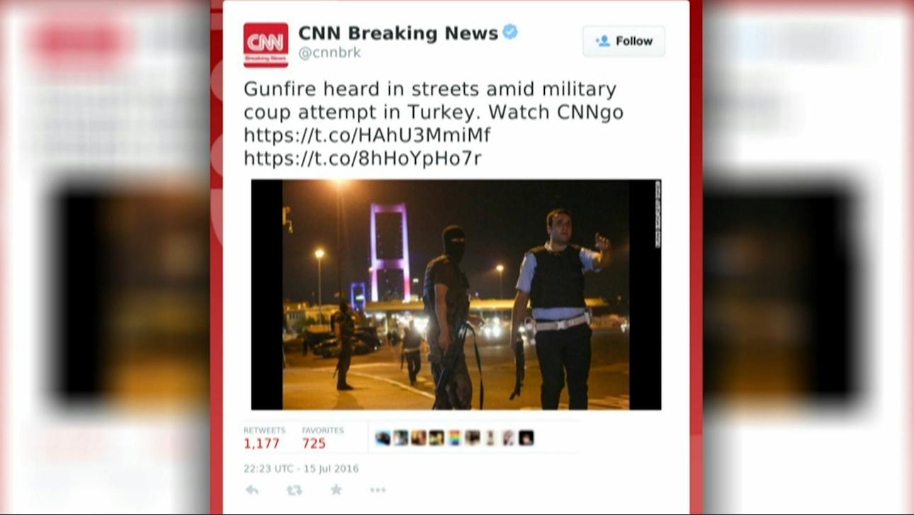 تسلسل أحداث محاولة الانقلاب في تركيا من خلال التغريدات