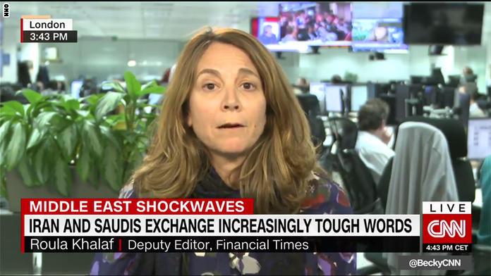 رولا خلف لـCNN: التوجه الصارم للسعودية مع إيران مهم إقليميا ويجب اتباعه بالعوامل
