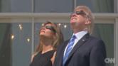 بالفيديو.. ترامب وعائلته يشاهدون كسوف الشمس