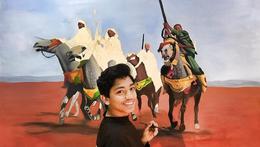 الفلسطيني محمد قريقع يصل إلى العالمية بلوحاته الفنية
