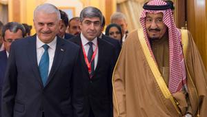 الملك سلمان يستقبل رئيس وزراء تركيا.. ومباحثات حول القدس