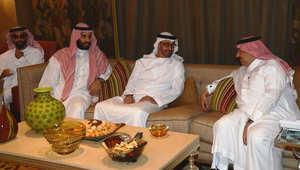 ولي ولي العهد السعودي في استقبال الوفد الإماراتي
