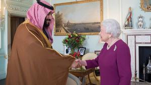 محمد بن سلمان يلتقي الملكة إليزابيث وتيريزا ماي