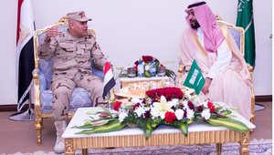 الفريق أول صدقي صبحي مع الأمير محمد بن نايف في الرياض ، 9 إبريل/ نيسان 2015