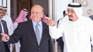 """هادي: اليمن اقترب من العودة.. و""""صاحب الحزم"""" والأشقاء أظهروا مقدارا عاليا من القوة والإنسانية"""